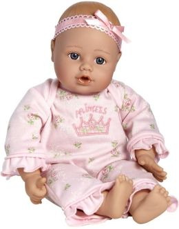 Adora Playtime Babies Light Skintone & Blue Eyes with Pink Romper 13 inch Baby Doll