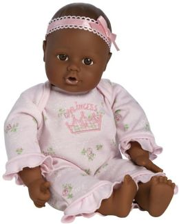 Adora Playtime Babies Dark Skintone Brown & Eyes with Pink Romper 13 inch Baby Doll