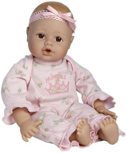 Adora Playtime Babies Light Skintone & Brown Eyes with Pink Romper 13 inch Baby Doll