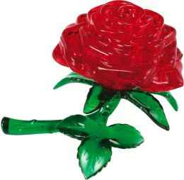 Clearly Puzzled 3D Red Rose