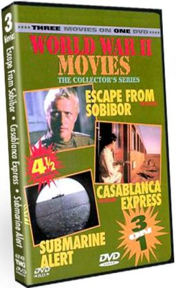 World War Ii Movies: Escape from Sobibor/Casablanca Express/Submarine Alert