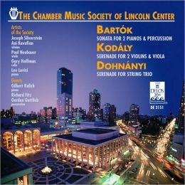 Bartók: Sonata for 2 Pianos & Percussion; Kodály: Serenade for 2 Violins & Viola; Dohnányi: Serenade for String Trio