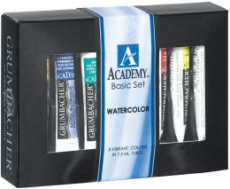 Grumbacher Academy Watercolor Paint 7.5ml 8/Pkg-Basic Set