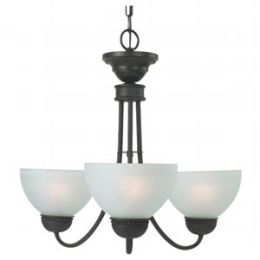Royce Lighting RMC40ES-3-23 Westlake 3 Light Mini Chand. Energy Star Oil Rubbed Bronze