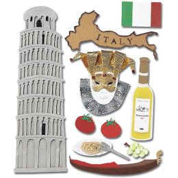 Jolee's Boutique Dimensional Destination Sticker-Italy