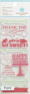 Martha Stewart Clear Stamps-All Occasions