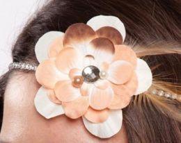 Jolees 490324 Laliberi-Julie Comstock Headband Kit-Light Flowers And Feathers