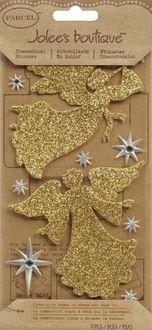 Jolees 121343 Jolees Boutique Le Grande Sticker-Glittered Angels - Pack of 3