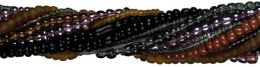 Revolution Glass Seed Bead Mix 100 Grams/Pkg-Black
