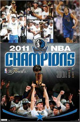 2011 NBA Champions Dallas Mavericks Celebration Poster