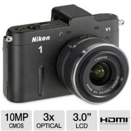 Nikon 1 V1 Digital Camera with 10mm & 10 - 30mm Lenses - 10.1 Megapixe