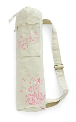Embroidered Mat Bag: Dragonfly