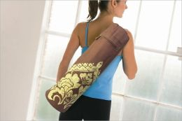 Yoga Mat Bag: Batik Brown
