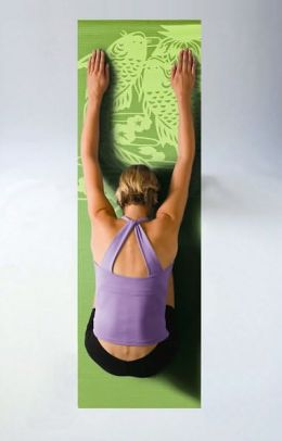 Audio Yoga Mat: Green Koi Fish