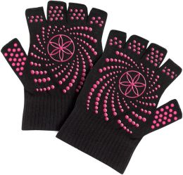Super Grippy Yoga Gloves - With Pink Dots