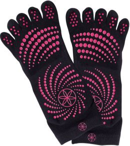 All Grip Yoga Socks - M/L Pink Dots