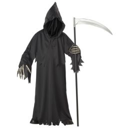 Grim Reaper Deluxe with Vinyl Hands Child Costume: Size X-Large