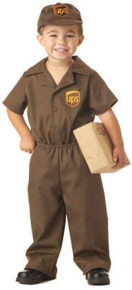 The UPS Guy Toddler Costume: Size 4-6