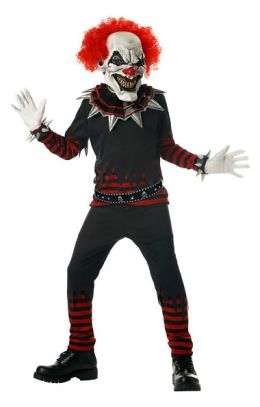 Evil Clown Child Costume: Size Large (10-12)