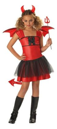 Devil Darling Child Costume: Size Large (10-12)