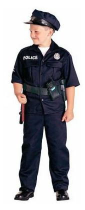 Police Officer Child Costume: Size Small (6-8)