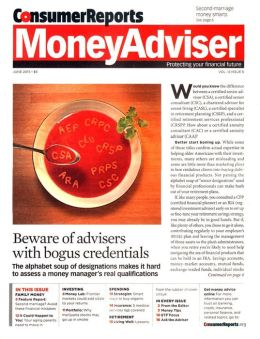 Consumer Reports Money Adviser - One Year Subscription
