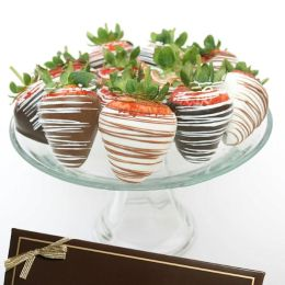 12 Belgian Chocolate Covered Strawberries- Milk, White & Dark Assortment