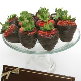 12 Classic Belgian Dark Chocolate Covered Strawberries