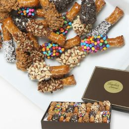 20 pc. Belgian Chocolate Covered Mini-Pretzel Sticks