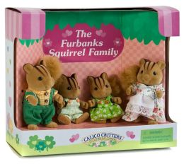 Calico Critters Furbanks Squirrel Family