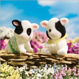Calico Critters - Fresian Cow Twins
