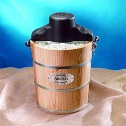 Aroma AIC-206EM 6-Quart Wood-Barrel Ice-Cream Maker Black