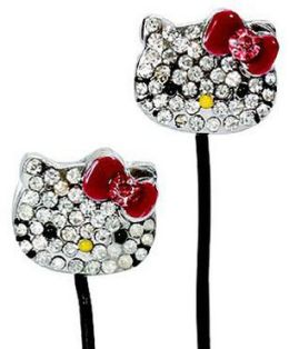 Hello Kitty Bling Metal Earbuds