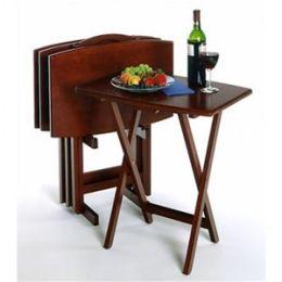Regalia Walnut 4-Piece TV Table Set