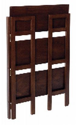 WINSOME TRADING-94896-Stackable Folding Shelf 3-Tier-Antique Walnut