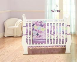 Triboro Just Born 4 Piece Crib Set, All a Flutter