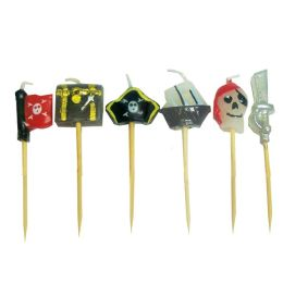 Pirate cupcake candle toppers