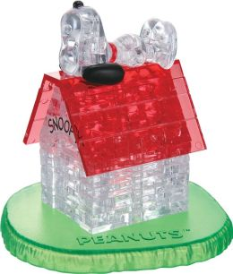 Crystal Puzzle Snoopy and Doghouse