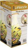Product Image. Title: 3D Vase Puzzle - Goldfinches