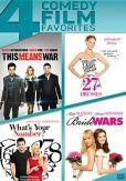 Video/DVD. Title: This Means War/27 Dresses/What's Your Number?/Bride Wars
