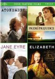 Video/DVD. Title: Atonement/Pride & Prejudice/Jane Eyre/Elizabeth