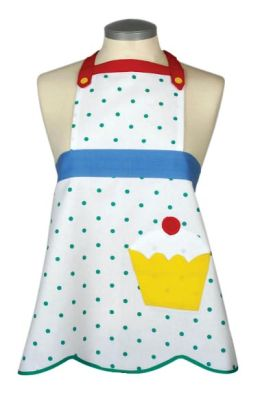 Cupcake Motif Child's Apron-Boxed