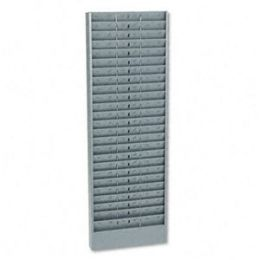 Buddy Products 805-1 Adjustable 24-- 48- Or 72-Pocket Time Card Rack- Textured Steel- Gray