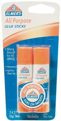 Elmers All-Purpose Glue Stick-.21 Ounce 2/Pkg