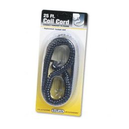 Softalk 42261 Coiled Phone Cord 25ft Black