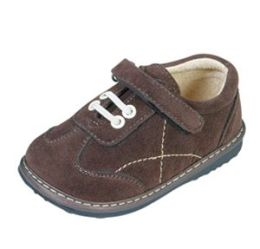 Squeak Me Shoes 23538 Boys Brown Suede Toddler Shoe Size 8