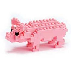 nanoblock Micro-Sized Building Block Set, Pink Pig