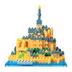 nanoblock Micro-Sized Building Block Set, Mont Saint Michel