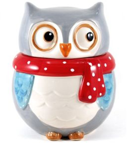 Snowy Owl Cookie Jar