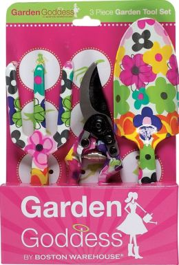 Garden Goddess 3 Piece Watercolor Garden Tool Set